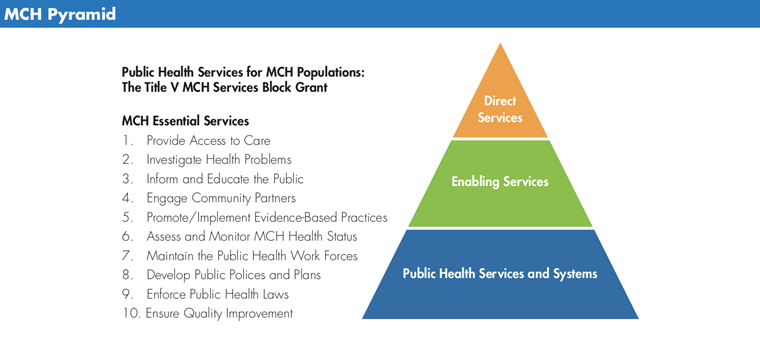 Chart showing the MCH Pyramid